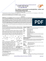 A Novel RP-HPLC Method for Analysis of Paracetamol Pseudo Ephedrine, Caffeine And