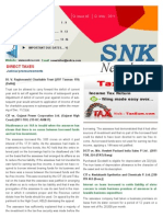 SNK Newsletter- May 2011