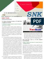 SNK Newsletter- March 2011