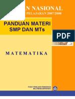 Panduan Ujian 2008 SMP MTs Matematika