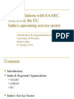 Presentation - India's Relations with SAARC, ASEAN & the EU