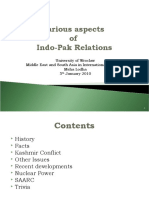 Presentation - India Pakistan Political Relations