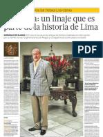 De Aliaga Un Linaje Que Es Parte de La Historia de Lima