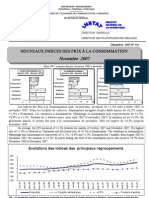Indices des prix à la consommation - Novembre 2007 (INSTAT - 2007)