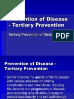 tertiary prevention of disease - diabetes