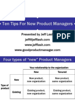 Ten Tips for New Product Managers