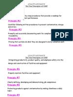 The Ten Principles of GMP