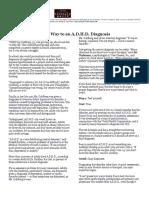 NY Times Ari Tuckman ADHD May 13 2011