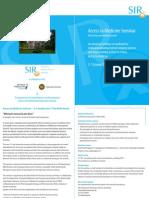 SIR Acces to Medicine Seminar 2011 - Flyer
