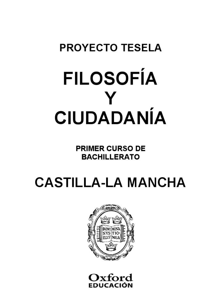 Programacion Tesela Filosofia y Ciudadania 1 BACH Castilla