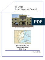 Peace Corps Belize Final Audit Report                IG1104A