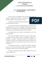 REFLEXÃO DA UFCD –  RECURSOS HUMANOS - PROCESSAMENTO DE VENCIMENTOS
