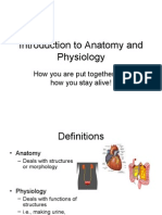 Ch 1 Intro to Anat and Physio