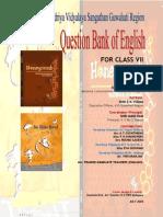 Question Bank of English Vii Mani_ram Tezpur