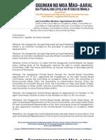 Sanggu1112_Act_CB Committee Members App. Act of 2011_042611