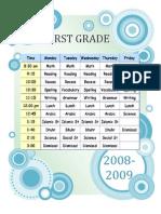 First Grade Class Schedule