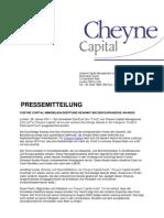 Cheyne Capital Immobilien-Debtfond Gewinnt Bei Den Eurohedge Awards
