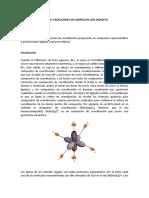 SÍNTESIS Y REACCIONES DE COMPLEJOS CON OXALATO