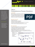 Datasheet SimSci PROIIComprehensiveProcessSimulation 09-10