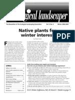 Winter 2002 The Ecological Landscaper Newsletter