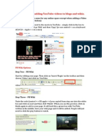 Instructions for adding YouTube videos to blogs and wikis