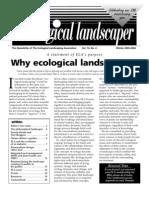 Winter 2003 The Ecological Landscaper Newsletter