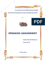 Speaking Assignment