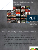 Socio cultural factors and its impact on business