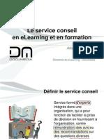 Le service conseil en eLearning et en formation