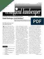 Fall 2007 The Ecological Landscaper Newsletter