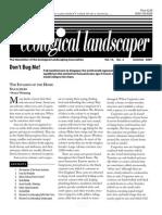 Summer 2007 The Ecological Landscaper Newsletter