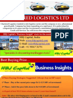 Chartered Logistics Ltd (Code 531977) - HBJ Capital's (MPS Unit) - Business Insight Penny Stock Reco for Sep'10