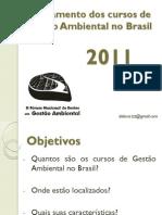 Mapeamento dos cursos de Gestão Ambiental no Brasil