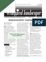 Winter 2009 The Ecological Landscaper Newsletter