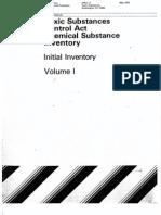 TSCA Initial Inventory Vol 1