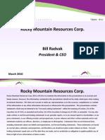 Rocky Mountain Resources Corp Vanadium Mining Project