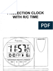 Lidl Projection Clock With Radio Controlled Time - User Guide