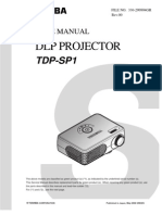 Toshiba TDP-SP1 REV00 330-200804GR SM Proyector
