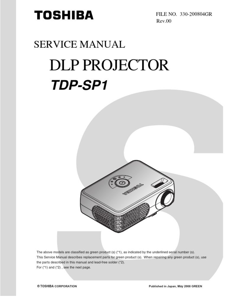 toshiba tdp sp1 rev00 330 200804gr sm proyector electrical rh scribd com 52HM95 Toshiba Manual TheaterWide 52HM95 Toshiba Manual TheaterWide