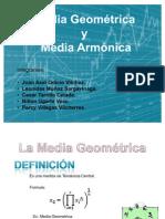 Aplicaciones de la Media geometrica y Media Armonica