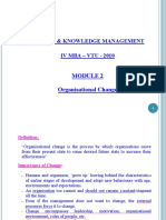 Change & Knowledge Management-IV MBA (Module-2)