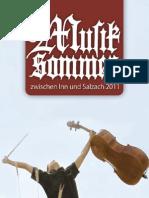 Musiksommer Programmheft 2011