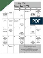 UT May & June Calendar 2011