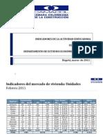 Cifras Coordenada Urbana Febrero 2011