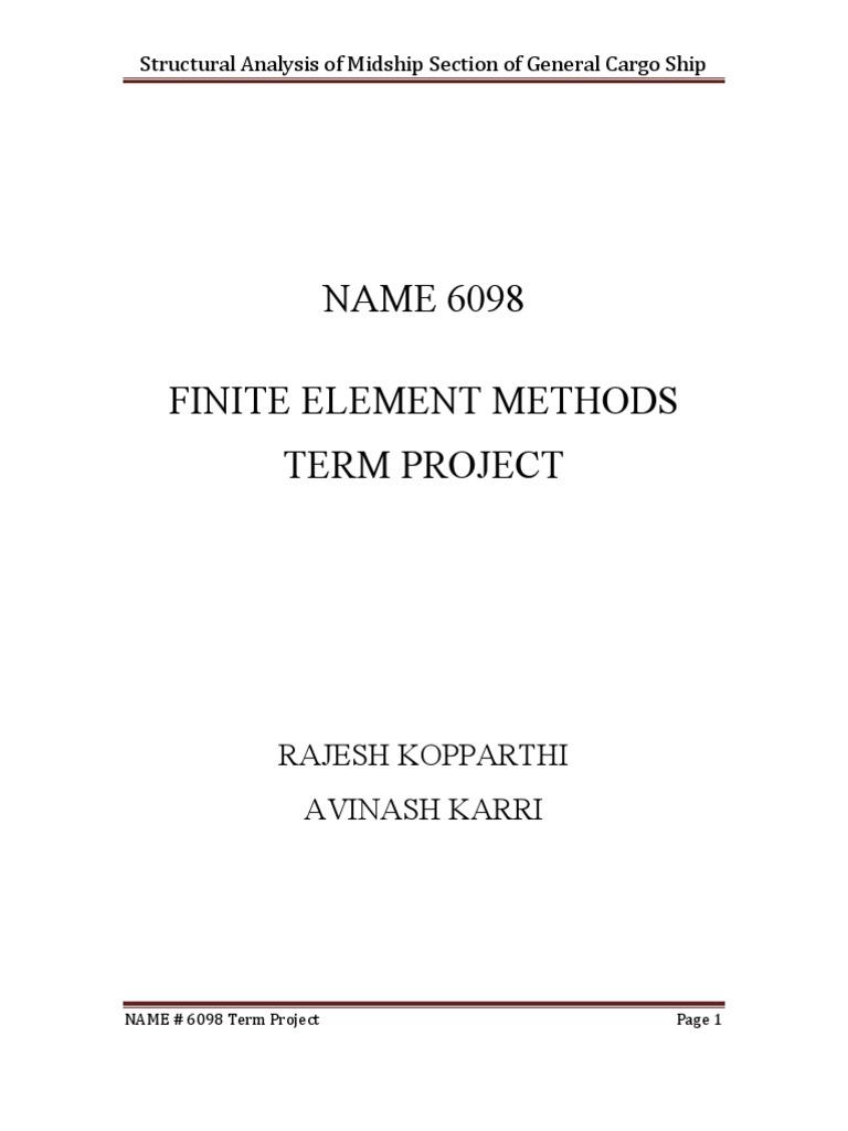 FEM MidShip Project Report   Continuum Mechanics