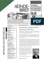 Gemeindebrief Buesingen Mai 2011 Gunnar Lang Und Die Wahlfaelschungen Anzeige Schaffhauser Nachrichten
