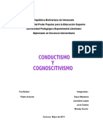 CONDUCTISMO Y COGNOSCITIVISMO[1]
