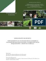 """Sistematizacion """"Fortalecimiento de capacidades de Reservas Naturales Privadas"""""""