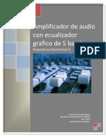 Amplificador de Audio Con Mezcladora y Eq 5 Bandas