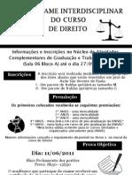 2011 - Exame Interdisciplinar - Cartaz de divulgação